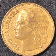 Monedas República: MONEDA DE 1 PESETA DE 1937. II REPUBLICA. LA RUBIA ORIGINAL.. Lote 266009358