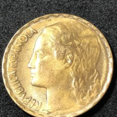 Monedas República: MONEDA DE 1 PESETA DE 1937. II REPUBLICA. LA RUBIA ORIGINAL.. Lote 266009753