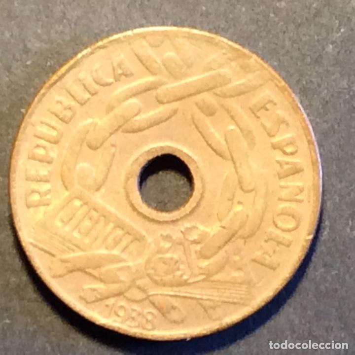 Monedas República: 25 Céntimos Republica Española. 1938 - Foto 2 - 266255443