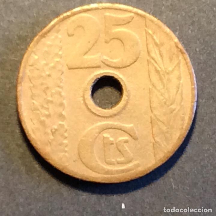 25 CÉNTIMOS REPUBLICA ESPAÑOLA. 1938 (Numismática - España Modernas y Contemporáneas - República)