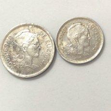 Monnaies République: PAREJA COMPLETA DE 1 Y 2 PESETAS 1937. GOBIERNO DE EUSKADI. EBC.. Lote 266891559