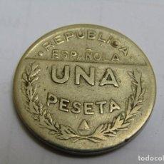 Moedas República: 1 PESETA CONSEJO DE SANTANDER PALENCIA Y BURGOS. Lote 267772799