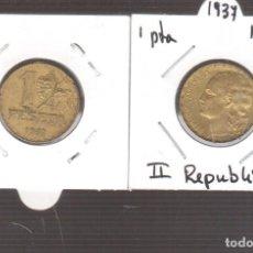 Moedas República: MONEDA DE ESPAÑA REPUBLICA 1 PESETA 1937 EL QUE VES. Lote 267814644