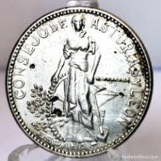 Monedas República: ⚜️ A2212. ERRORES. 2 PESETAS 1937 CONSEJO DE ASTURIAS Y LEÓN. REMARCADA. ADMITE LIMPIEZA. Lote 268442574