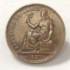 Monedas República: MONEDA DE 50 CÉNTIMOS DE 1937. REPUBLICA ESPAÑOLA. Lote 268859504
