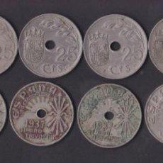Monedas República: LOTE 11 MONEDAS – ESPAÑA 25 CENTIMOS – 1937. Lote 269111748