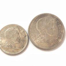 Monedas República: 1937 GUERRA CIVIL. EUZKADI. 1 Y 2 PESETAS,SERIE COMPLETA.MBC/MBC +.. Lote 269703243