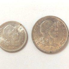 Monedas República: 1937 GUERRA CIVIL. EUZKADI. 1 Y 2 PESETAS,SERIE COMPLETA.MBC/MBC +.. Lote 269704893