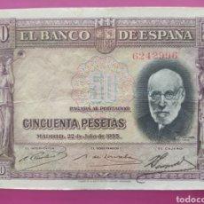Monedas República: BILLETE DE 50 PESETAS DE 1935. Lote 269957403