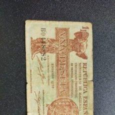 Monedas República: 1 PESETA 1937 SERIE B. Lote 269960593