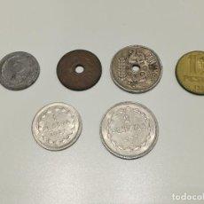 Monedas República: 6 MONEDAS DE LA II REPÚBLICA 5, 25 CÉNTIMOS, 1 PESETA, GNO EUZKADI 1934 1937 1938. Lote 269973558