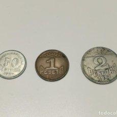 Monedas República: SERIE 3 MONEDAS 1937 CONSEJO DE ASTURIAS Y LEÓN 50 CÉNTIMOS, 1 Y 2 PESETAS. Lote 269977293