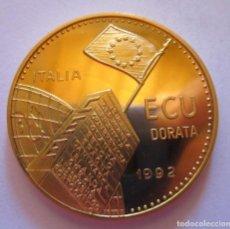 Monete Repubblica: ITALIA . PIEZA DE LA UNION EUROPEA . ECU DORADO DEL AÑO 1992 . PERFECTO .FDC. Lote 273247888