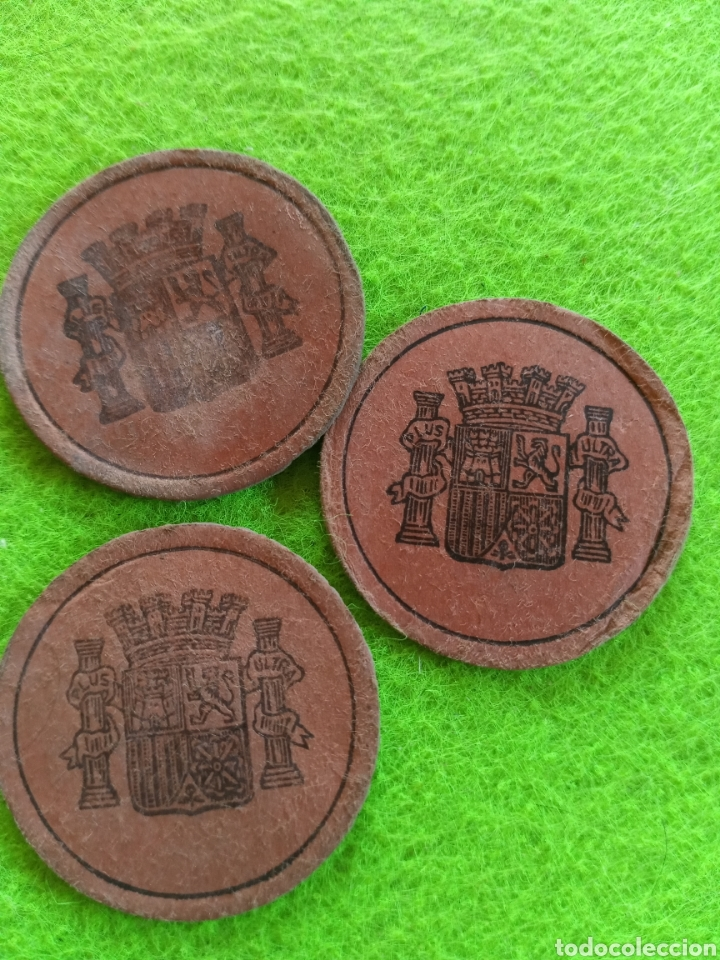 Monedas República: Lote 3 cartones moneda de 10 /15 y 25 centimos de la republica española - Foto 2 - 274613083