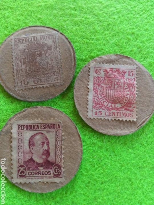 LOTE 3 CARTONES MONEDA DE 10 /15 Y 25 CENTIMOS DE LA REPUBLICA ESPAÑOLA (Numismática - España Modernas y Contemporáneas - República)