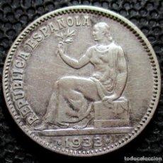 Monedas República: 1 PESETA 1933 *3*-*4* II REPÚBLICA (3 FOTOS) -PLATA- REF.1. Lote 277137498
