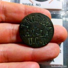 Monedas República: RESELLO POLÍTICO EN MONEDA DE 10 CTS 1870. INGRESA EN LA UGT // SAMA J.S. (JUVENTUDES SOCIALISTAS). Lote 280127148