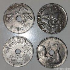 Monedas República: LOTE 4 MONEDAS 25 CENTIMOS / NUMISMÁTICA / MONEDA / ESPAÑA - ALFONSO XIII, REPUBLICA ESPAÑOLA. Lote 283228813