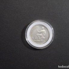 Monedas República: 1 PESETA DE PLATA REPUBLICA ESPAÑOLA. ESPAÑA . AÑO 1933 3*4*. LIGERO ERROR CANTO MAS ALTO. S.C.. Lote 284829453