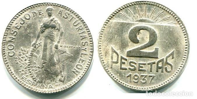 2 PESETAS 1837 ASTURIAS Y LEÓN (Numismática - España Modernas y Contemporáneas - República)