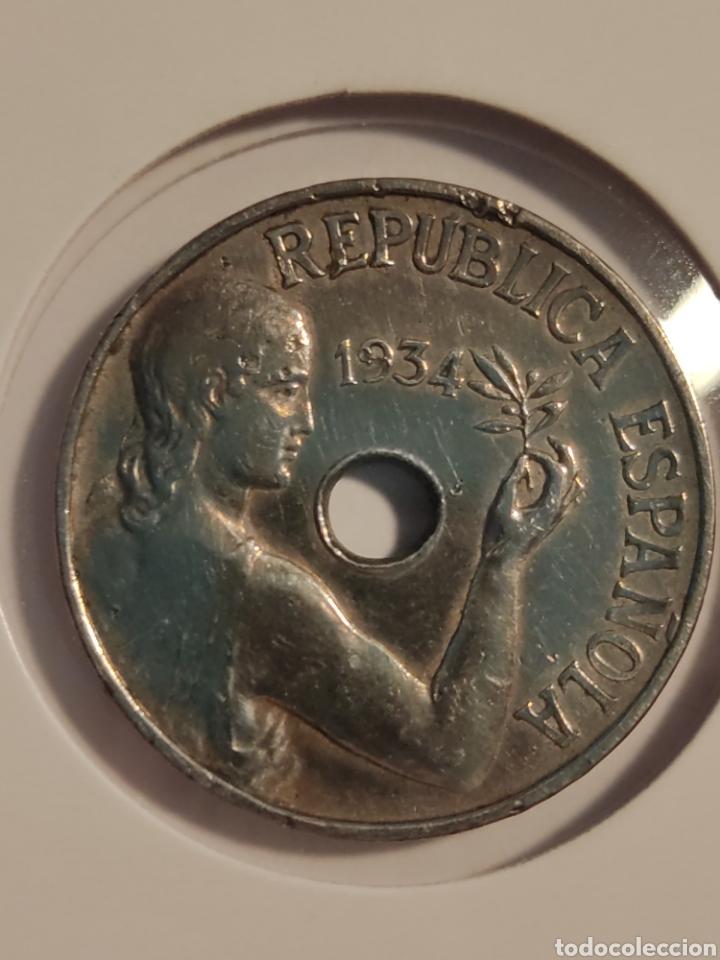 * MONEDA 25 CÉNTIMOS 1934 REPÚBLICA (Numismática - España Modernas y Contemporáneas - República)