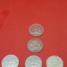 Monedas República: SERIE COMPLETA 2 PTAS PLATA-G.P.1869 (*69)-1870 (*70-*73-*74-*75) MBC++ ESTRELLAS PERFECTAS. Lote 285685258