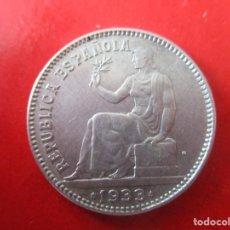 Monnaies République: II REPUBLICA. MONEDA DE 1 PTA DE PLATA 1933 *34. Lote 286953843