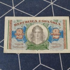 Monedas República: 8 BILLETES PESETAS REPUBLICA ESPAÑOLA 5 DE 1PTS Y 3 DE 2PTS. Lote 287221753