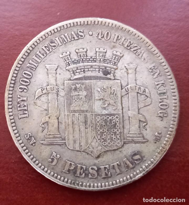 Monedas República: Moneda de 5 pesetas de plata - Foto 2 - 287796588