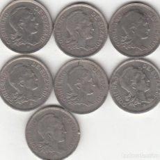 Monedas República: LOTE 7 MONEDAS 2 PESETAS 1937 EUZKADI ( GUERRA CIVIL ). Lote 287979743