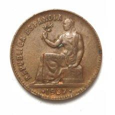 Monedas República: MONEDA DE 50 CÉNTIMOS DE 1937. II REPUBLICA. MUY BIEN CONSERVADA.. Lote 288701298