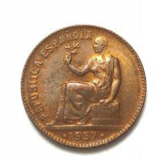 Monedas República: MONEDA DE 50 CÉNTIMOS DE 1937. II REPUBLICA.MUY BIEN CONSERVADA.. Lote 288703538