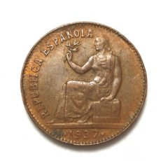 Monedas República: MONEDA DE 50 CÉNTIMOS DE 1937. ORLA DE PUNTOS CUADRADOS.II REPUBLICA.MUY BIEN CONSERVADA.. Lote 288704258