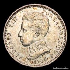 Monedas República: ESPAÑA - ALFONSO XIII, 1 PESETA. 1904 SM·V (6163). Lote 288949128