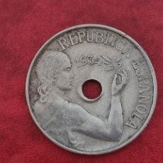 Monedas República: 25 CÉNTIMOS 1934 LA DE LA FOTO. Lote 288963853