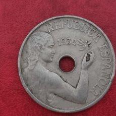 Monedas República: 25 CÉNTIMOS 1934 LA DE LA FOTO. Lote 288964088