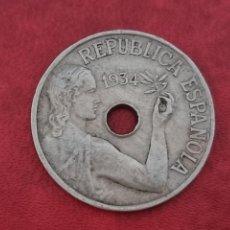 Monedas República: 25 CÉNTIMOS 1934 LA DE LA FOTO. Lote 288964553
