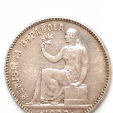 Monedas República: 1 PESETA DE PLATA DE 1933. ESTRELLAS 3-4. II REPUBLICA ESPAÑOLA. MBC +.. Lote 289196328