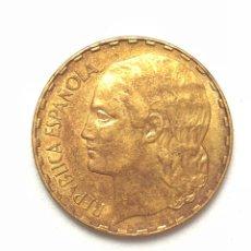 Monedas República: 1 PESETA DE 1937. LA RUBIA. MBC. II REPUBLICA ESPAÑOLA.. Lote 289197983