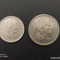 Monedas República: SERIE DE 1 Y 2 PESETAS DE 1937..... EUZKADI....3.... LA DE LAS FOTOS. Lote 289526508