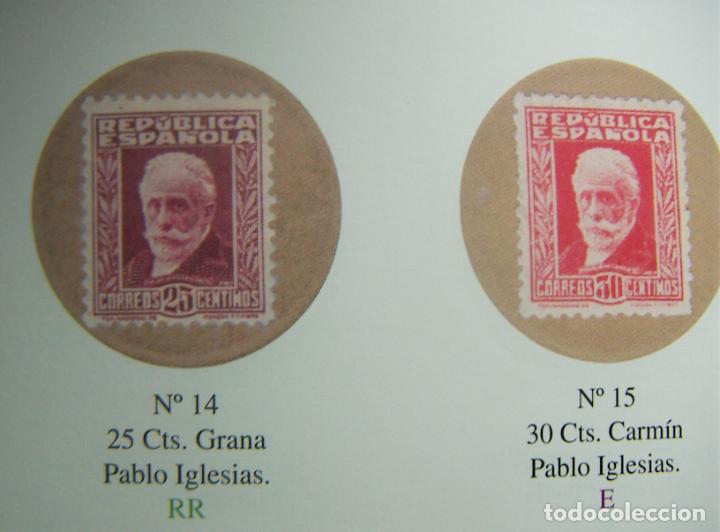 Monedas República: Cartón Moneda Sello de Republica Española de 25 Céntimos + catalogo El sello Moneda de la Republica - Foto 3 - 289736228
