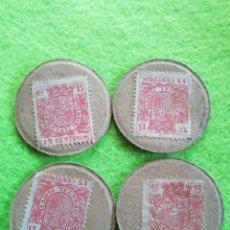 Monedas República: LOTE 4 MONEDAS CARTÓN DE 15 CÉNTIMOS. DE LA REPÚBLICA ESPAÑOLA.. Lote 290085963