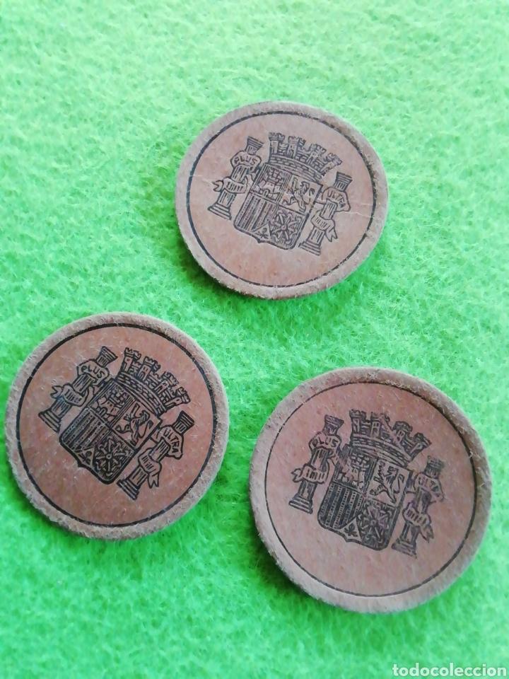 Monedas República: Lote de 3 monedas cartón. De 5/15/25. Moneda de la República española - Foto 2 - 290086608