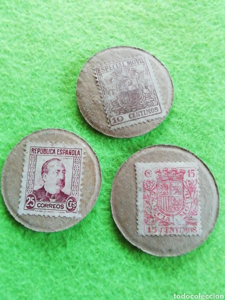 LOTE DE 3 MONEDAS CARTÓN. DE 5/15/25. MONEDA DE LA REPÚBLICA ESPAÑOLA (Numismática - España Modernas y Contemporáneas - República)