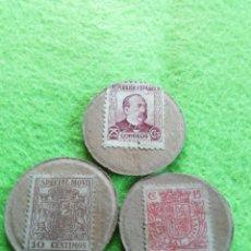 Monedas República: LOTE DE 3 MONEDAS CARTÓN DE LA REPÚBLICA ESPAÑOLA. DE 10/15 Y 25 CÉNTIMOS.. Lote 290087518