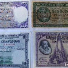 Monedas República: LOTE CRONOLOGICO DE BILLETES DE 100 PESETAS. Lote 292162043