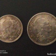 Monedas República: SERIE DE 1 Y 2 PESETAS DE 1937....EUZKADI...2..ES LA DE LAS FOTOS. Lote 292278293