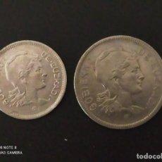 Monedas República: SERIE DE 1 Y 2 PESETAS DE 1937....EUZKADI...3..ES LA DE LAS FOTOS. Lote 292278318