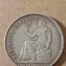 Monedas República: 1 PESETA PLATA II REPÚBLICA - 1933 *34 - 5,00G. Lote 294102208