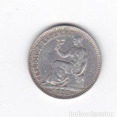Monedas República: 1 PESETA-1933*3-4. Lote 294484193